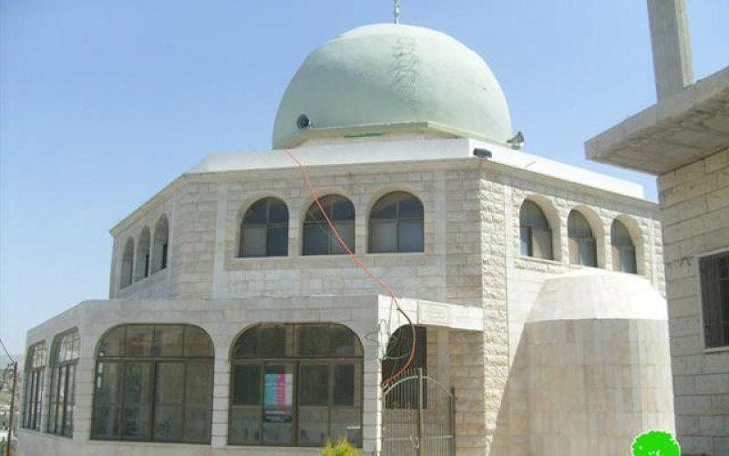 الاعتداء على مسجد بلال بن رباح في بلدة حوارة