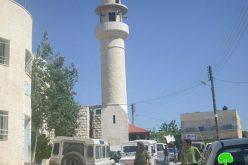 إحراق المسجد الرئيسي لقرية اللبن الشرقي في محافظة نابلس