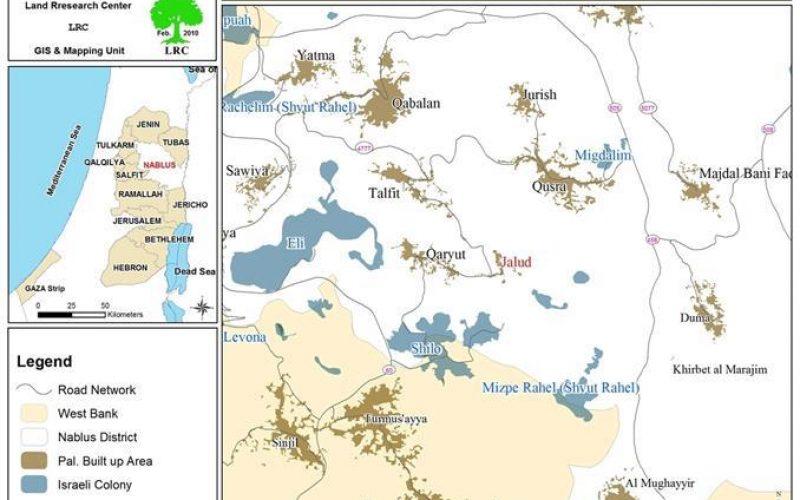 Shivot Raheil Colonists Plough 14 Dunums of Palestinian Lands in Jalud Village