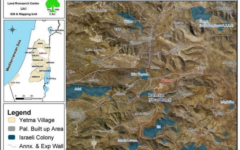 The Israeli Occupation Notifies 9 Houses in Yatma Village with halt of construction orders