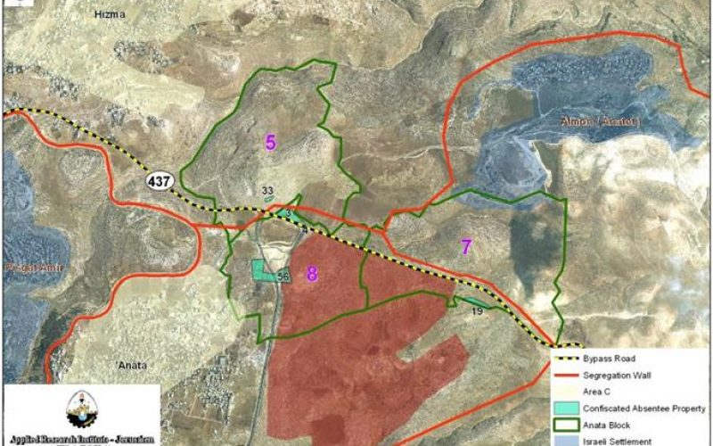"""Manipulating the International Humanitarian Law (IHL)"" <br> 'Anata Town to lose more of its lands for Israeli Public Use"