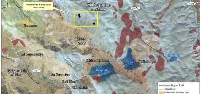 A New Series of Israeli Demolition Orders in the Northern Parts of the West Bank