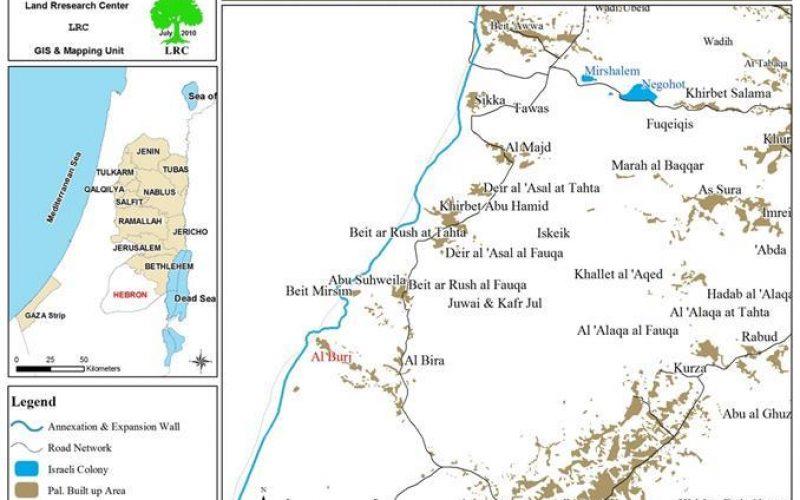 12 Demolition Orders against Palestinian Structures in Al Burj area