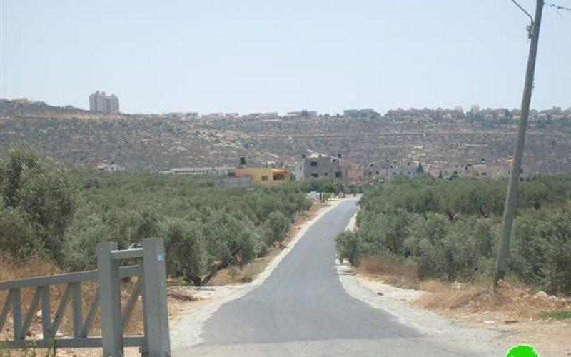 أخطار بهدم طريق رئيسي معبد  في قرية مردا