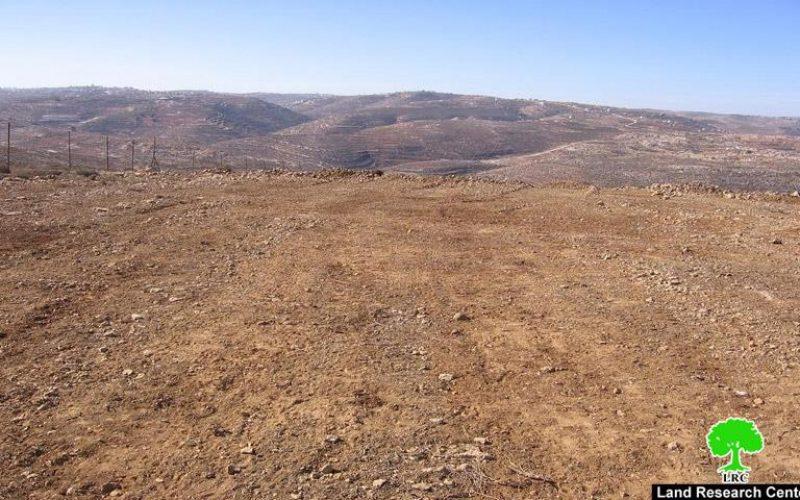 مستعمرون يجرفون 20 دونما من أراضي بلدة سعير