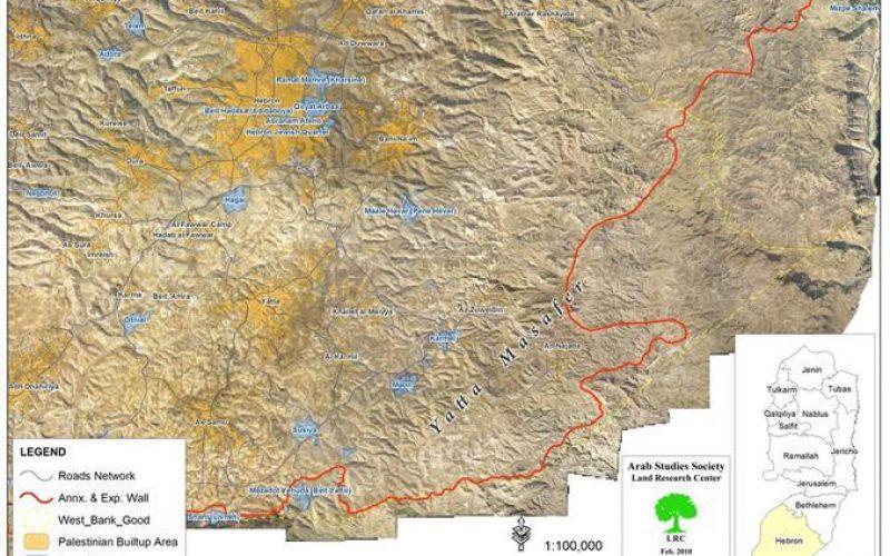 Israeli Occupation Force Demolish 14 Water Cisterns in the Areas of in Umm Al Daraj and Khashm Al Daraj, East of Yatta