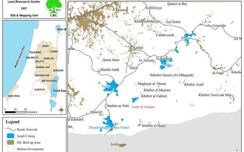 مستعمرون يهود يستولون على 2000 دونماً من الأراضي الفلسطينية في بلدة يطا