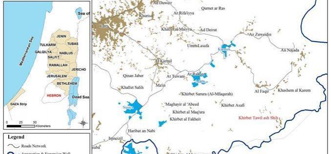 الاحتلال يهدم منشآت وغرفة صفية في خربة طويل الشيح جنوب بلدة يطا