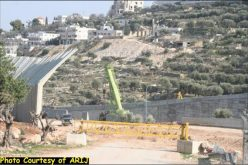 Construction returns to the Segregation Wall in Beit Jala city