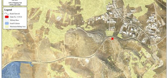 Capturing Palestinian land to be used as a Helipad in Hebron Governorate