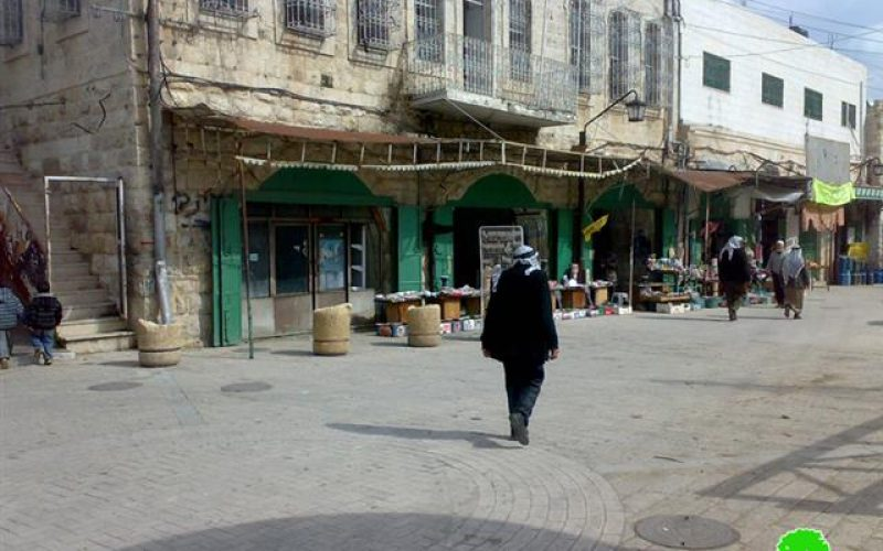 The Israeli Occupation Authorities authorizes the reopening of three commercial shops in Hebron Old City