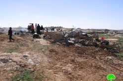 Demolishing tents and Water Wells  in Susiya – Yatta Town