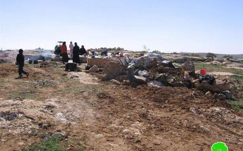 Demolishing tents and Water Wells  in Susiya – Yatta Town