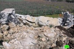 هدم بركة مياه لعائلة جابر في حي البقعة شرق الخليل