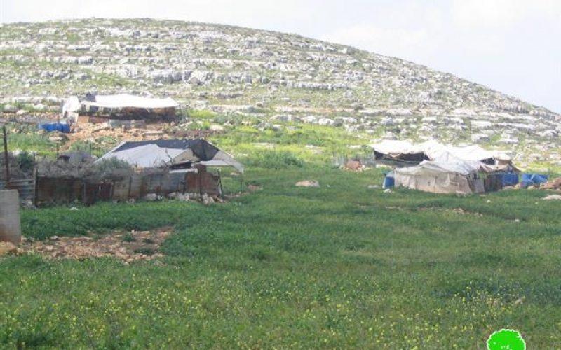 تهديد 5 عائلات بدوية بوقف البناء / شمال  محافظة سلفيت