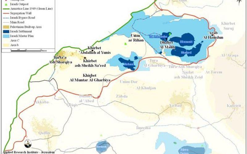 New Israeli halt of construction orders in Barta'a Ash Sharqiya village west of Jenin city