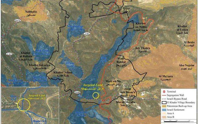 Israeli settlers target more Palestinian land in Al Khader village west of Bethlehem city