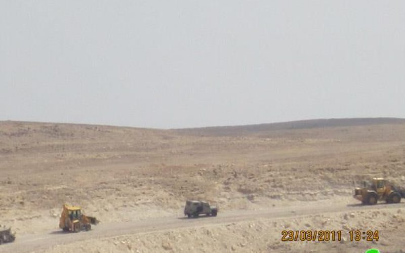 Demolishing a Water Tank in Al Rashayda village in Bethlehem Governorate