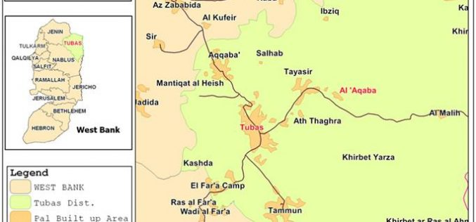 The Israeli Occupation Issues Stop-Work Orders in Al 'Aqaba village