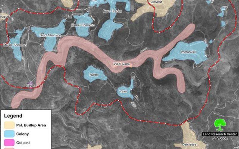 إخطارات بإخلاء أراضي زراعية  في دير ستيا / محافظة سلفيت