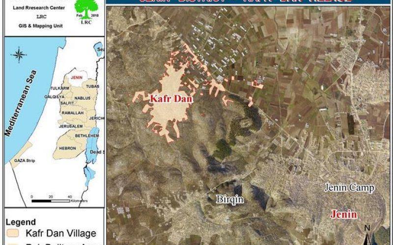 هدم 8 آبار ارتوازية ومشتل زراعي  في قرية كفر دان في  محافظة جنين
