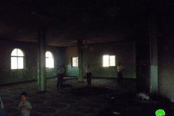 إضرام النار في  مسجد قرية المغير – محافظة رام الله