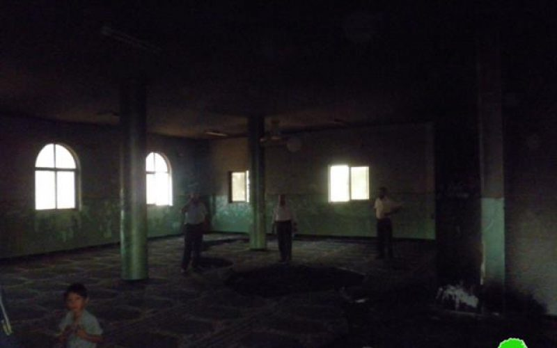 Setting a Mosque Ablaze in Al Mughayyir -Ramallah Governorate