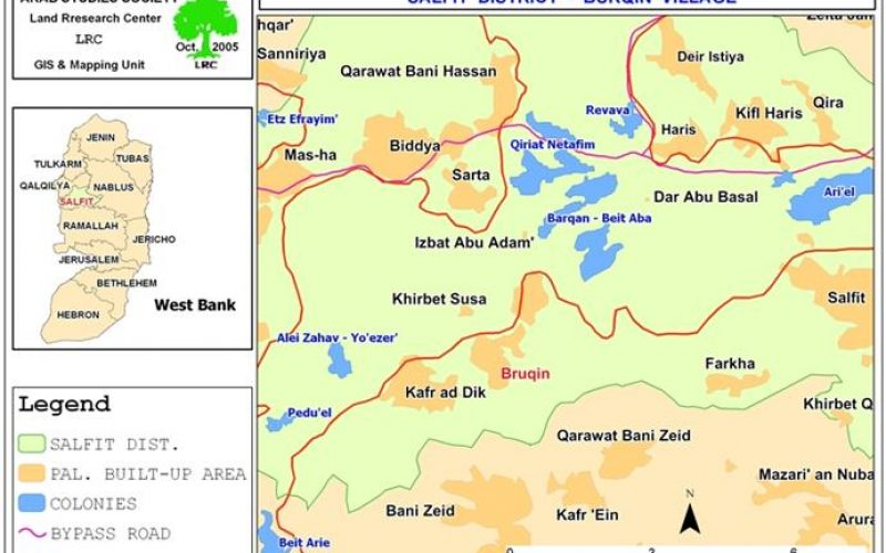 Stop-work Orders in Bruqin -Salfit Governorate