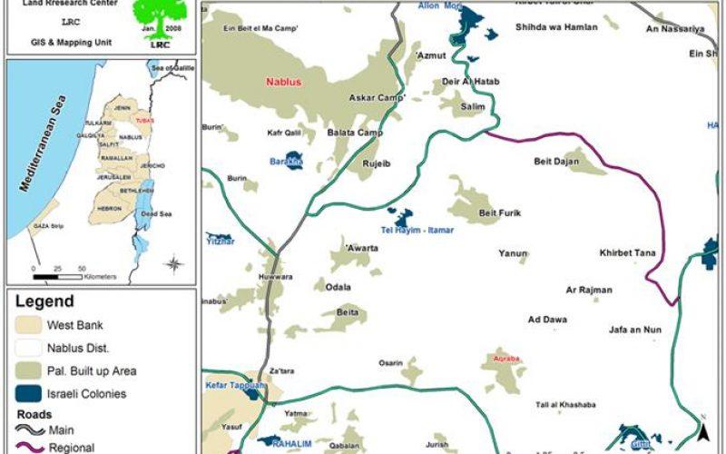 الاحتلال الإسرائيلي يخطر بهدم ثلاثة آبار جمع في بلدة عقربا