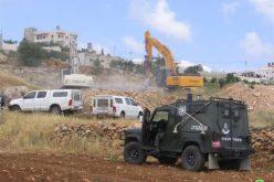 الاحتلال يدمر بئري مياه زراعية في الحرايق جنوب الخليل