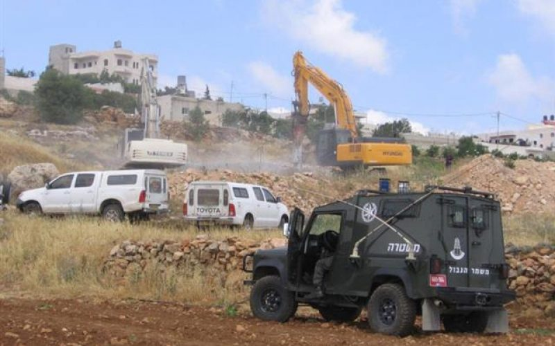 The Israeli Occupation Demolishes Two Water Cisterns in Al Harayeq – Hebron City
