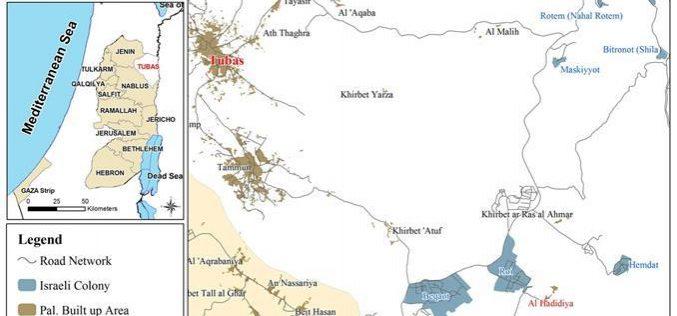 الاحتلال الإسرائيلي يشرع في عملية هدم واسعة في خربة الحديدية و خربة يرزا/ محافظة طوباس.