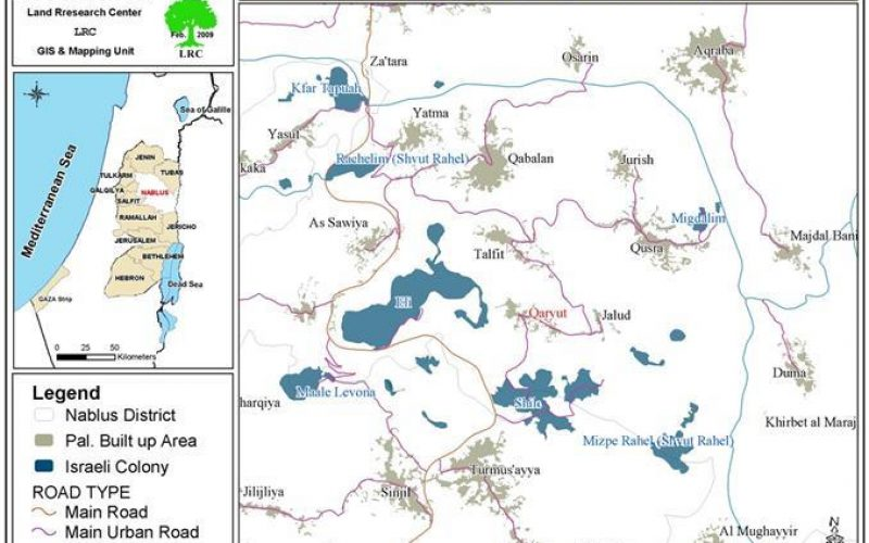 "Converting 189 Dunums into ""State Property""  in Qaryut – Nablus Governorate"