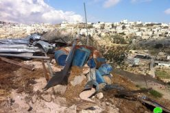 Demolishing a Shack and Leveling Lands in Sur Baher – Jerusalem city
