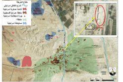 بدعوى البناء الغير مرخص, جرافات الإحتلال الإسرائيلي تقوم بهدم تسعة محال تجارية في قرية العوجا
