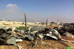 هدم 6 مساكن لعرب الجهالين في وعر البيك بلدة عناتا – محافظة القدس
