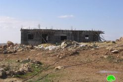 Stop-work Order for a House in Al Rafa'iyya area south of Hebron