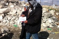The Israeli Occupation Army Demolishes a Residence in Anata