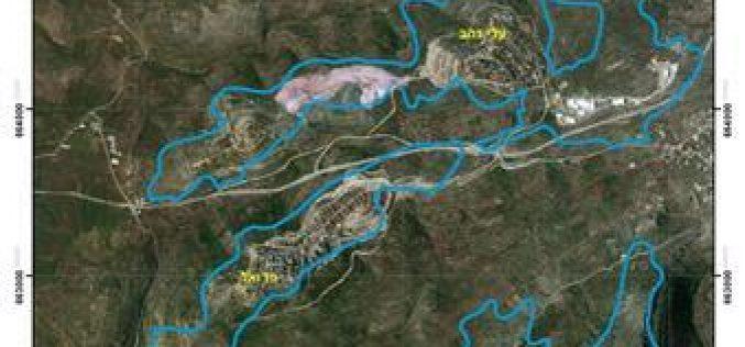 الاحتلال الإسرائيلي يخطر  بمصادرة  عشرات الدونمات الزراعية في بلدة كفر الديك – محافظة سلفيت