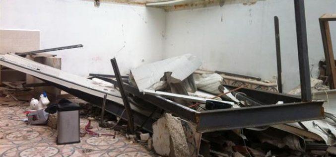 هدم جزئي لمسكن  في شعفاط بحجة عدم الترخيص – القدس
