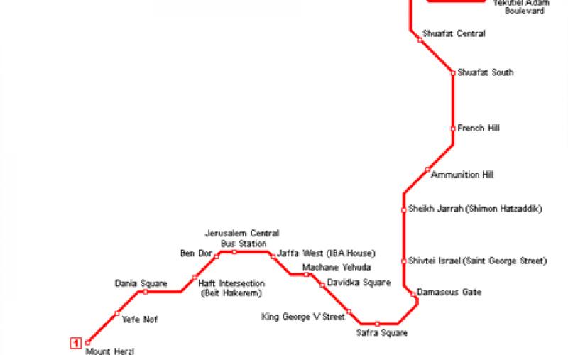 Les conséquences juridiques de la construction d'un tramway dans les quartiers occupés de Jérusalem