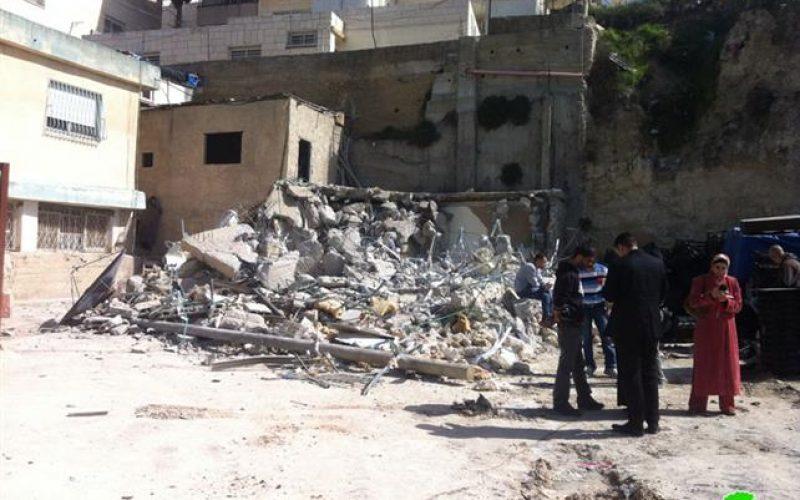 The Israelis demolish a residence in As Suwwana