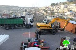 Israeli troops demolish a playground and a cultural café in Wadi Hilwa