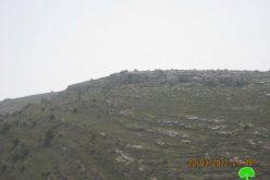 إخطارات بمصادرة أراضي في قرية نحالين