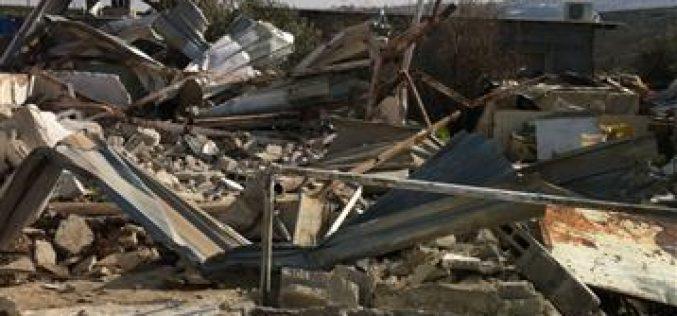 الاحتلال يهدم منزلين في بلدة جبع وشرد ساكنيه