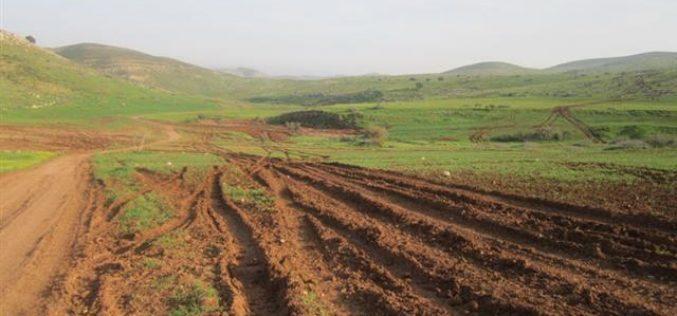 الاحتلال الإسرائيلي يدمر العشرات من الدونمات الزراعية أثناء التدريبات العسكرية في الأغوار الشمالية