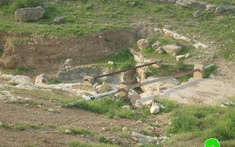 الاحتلال الإسرائيلي يخطر بوقف البناء لبئري ماء و مسكن في الأغوار الشمالية