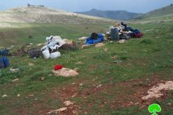 الاحتلال  الإسرائيلي يهدم مسكن وحظيرة في خربة الطويل – محافظة نابلس
