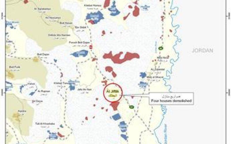 «Israël intensifie ses violations dans la Vallée du Jourdain » <br> Onze démolitions et trois notifications militaires de démolition enregistrées