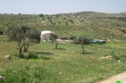 هدم عدداً من البركسات السكنية في خربة الجعوانة شرق بلدة بيت فوريك